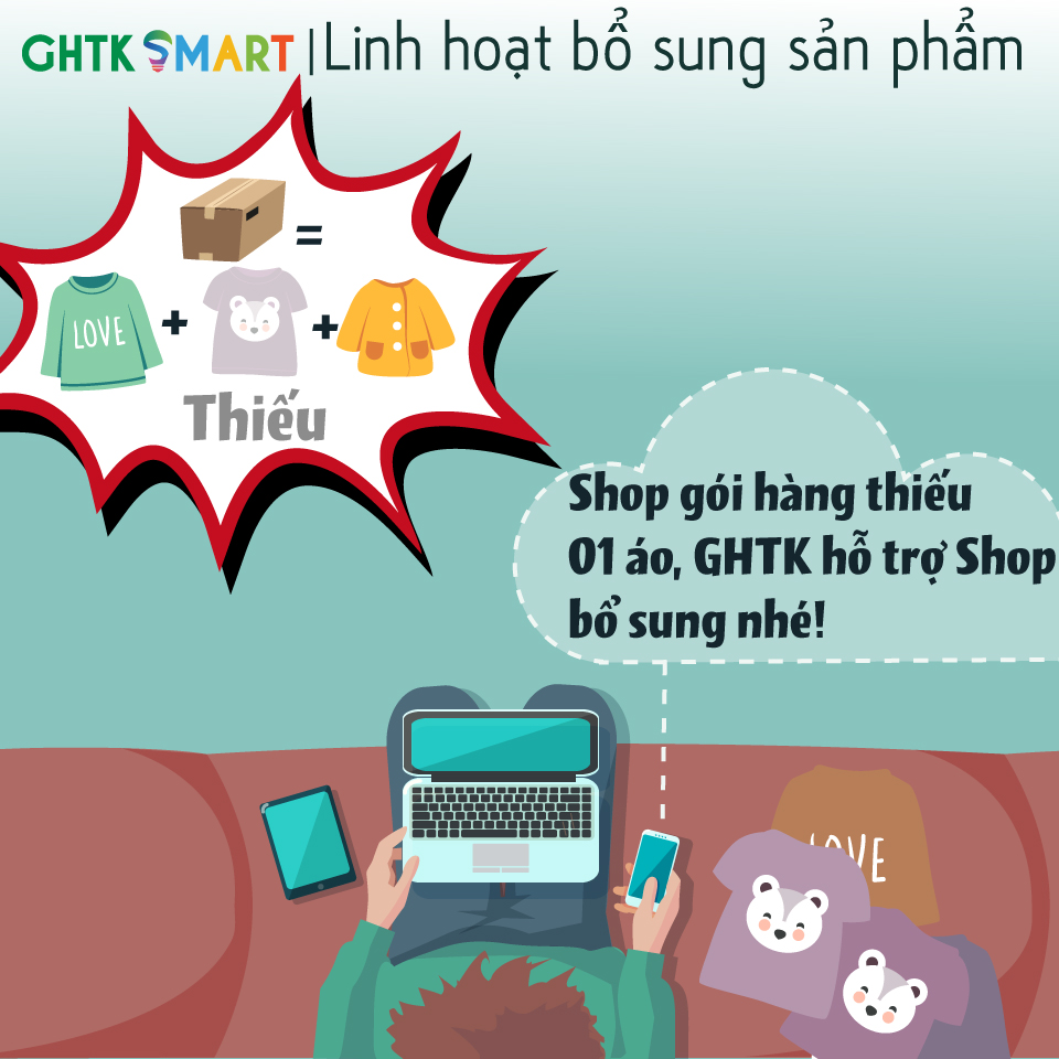 GHTK Smart - Linh hoạt bổ sung sản phẩm