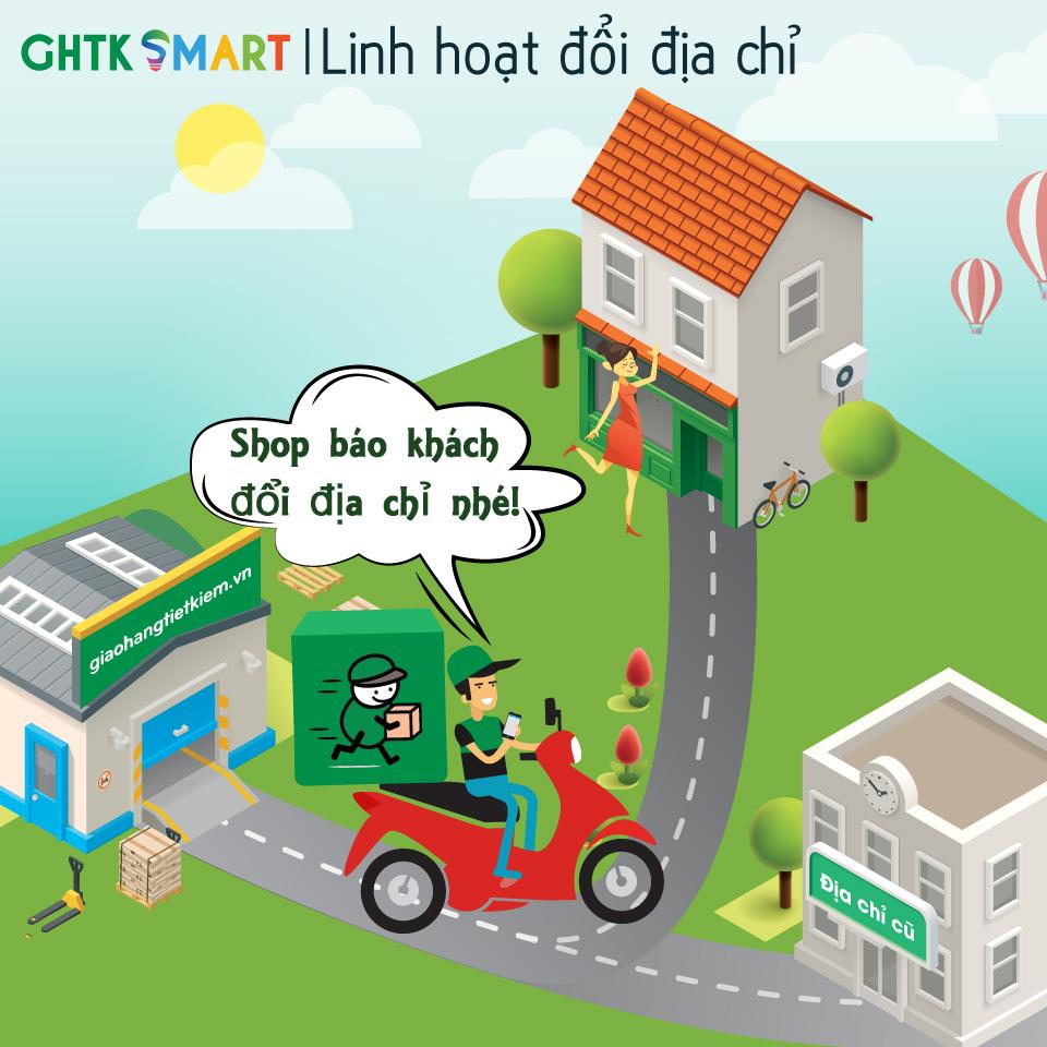 Linh hoạt đổi địa chỉ - GHTK Smart 01