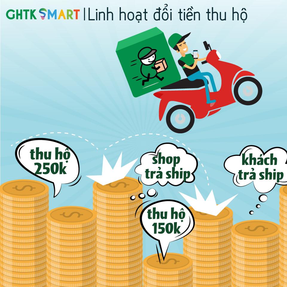 Linh hoạt đổi tiền thu hộ - GHTK Smart 02